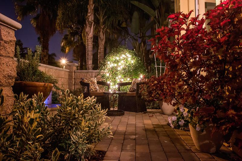 Comforting Patio at Night